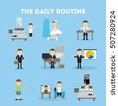 the daily routine. life... | Shutterstock .eps vector #507280924