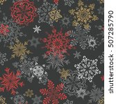 winter seamless pattern with... | Shutterstock .eps vector #507285790