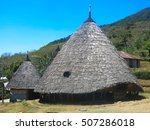 Indigenous Conical Huts In Wae...