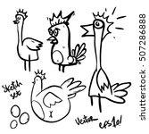 cartoon chicken bird isolated... | Shutterstock .eps vector #507286888