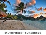 beautiful bora bora island...   Shutterstock . vector #507288598