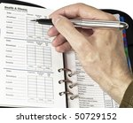 Health diary - stock photo