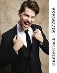 businessman holding jacket... | Shutterstock . vector #507292636