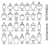 Candy Jar Collection. Vector...
