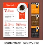 design menu for a cafe or... | Shutterstock .eps vector #507297640