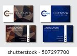 business card template in the... | Shutterstock .eps vector #507297700