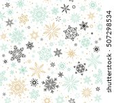 vector christmas and new year... | Shutterstock .eps vector #507298534