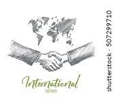 vector hand drawn international ... | Shutterstock .eps vector #507299710