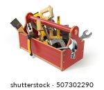 Wooden Toolbox With Tools...
