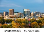 Small photo of City of trees Boise Idaho with fall colors