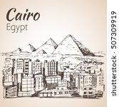 cairo city   skyline  egypt.... | Shutterstock .eps vector #507309919