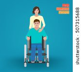 help disabled people   man in... | Shutterstock .eps vector #507315688