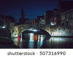 cityscape of canal and bridge... | Shutterstock . vector #507316990