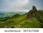 green landscape on the isle of... | Shutterstock . vector #507317008