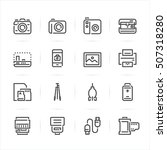 camera icons with white... | Shutterstock .eps vector #507318280