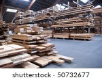 Packed Warehouse With Wood...
