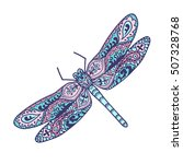 dragonfly. animals. hand drawn... | Shutterstock .eps vector #507328768
