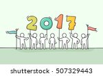2017 happy new year background. ... | Shutterstock .eps vector #507329443