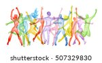 watercolor dance set on white... | Shutterstock . vector #507329830