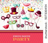 photo booth party invitation... | Shutterstock .eps vector #507330454