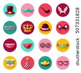 set of carnival masks in... | Shutterstock .eps vector #507331828