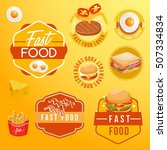 fast food elements   vector... | Shutterstock .eps vector #507334834