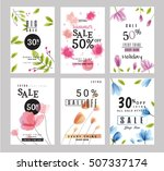 sale banners collection for... | Shutterstock .eps vector #507337174