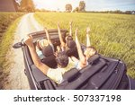 group of best friends having... | Shutterstock . vector #507337198