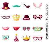 carnival masks set isolated on... | Shutterstock .eps vector #507338470