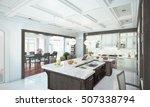 luxury kitchen interior. 3d...   Shutterstock . vector #507338794