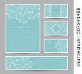 set of vector cards with... | Shutterstock .eps vector #507341488