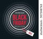 flat black friday background... | Shutterstock .eps vector #507348763