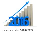 blue business graph with blue...   Shutterstock . vector #507349294