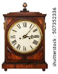 Wooden Ancient Clock Isolated...