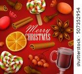 christmas background. vector... | Shutterstock .eps vector #507352954