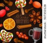 christmas background. vector... | Shutterstock .eps vector #507353128