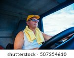 portrait of a senior truck... | Shutterstock . vector #507354610