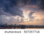 sunset in the city | Shutterstock . vector #507357718
