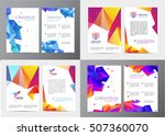 vector set of document  letter... | Shutterstock .eps vector #507360070