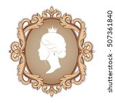 elegance cameo with profile... | Shutterstock .eps vector #507361840