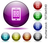smartphone firewall color glass ... | Shutterstock .eps vector #507364540