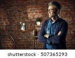 serious modern man with gray... | Shutterstock . vector #507365293