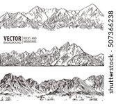 mountains ranges. set. vector... | Shutterstock .eps vector #507366238