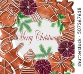 gingerbread ornament. christmas ...   Shutterstock . vector #507367618