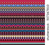 colorful tribal vintage ethnic... | Shutterstock .eps vector #507367810