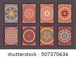 collection retro cards. ethnic... | Shutterstock .eps vector #507370636