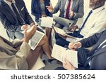 business people discussion... | Shutterstock . vector #507385624