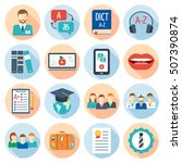icons set for foreign language... | Shutterstock .eps vector #507390874