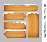 realistic nature wooden sign... | Shutterstock .eps vector #507394240