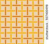Crosshatch vector seamless pattern. Checkered motif in yellow, beige, ecru. Seamless  background texture of crosshatched bold lines.Trellis pattern. Great for fabric print, wallpaper, home design, web